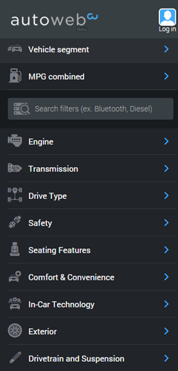 AutoWeb-Search-Filtering-Screenshot